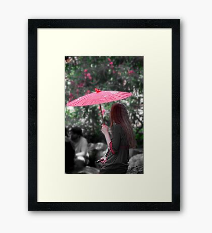 A Study in Scarlet Framed Print