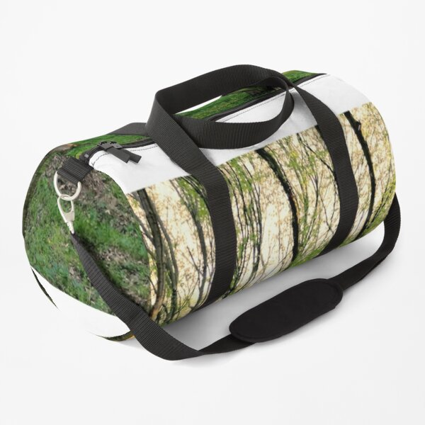 Green forest at sunset Duffle Bag