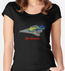 More 80s Classic Space Lego Women's Fitted Scoop T-Shirt
