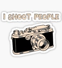 I Shoot People Sticker
