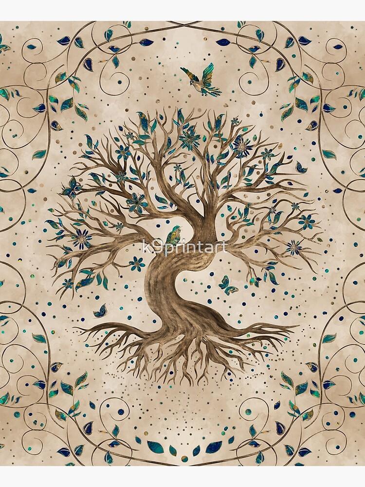 Tree of Life - Yggdrasil  by k9printart
