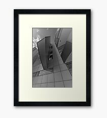 Abtract number 10 black and white Framed Print