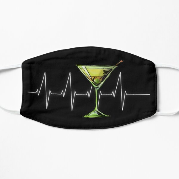 Martini Heartbeat Cocktail Hour Dirty Martini Glass Mask