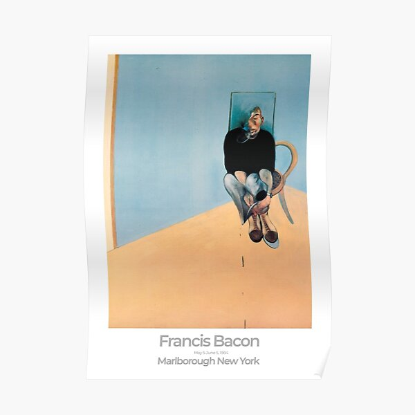 Francis Bacon Exhibition Art Poster 1984 - Study for Self-Portrait Poster