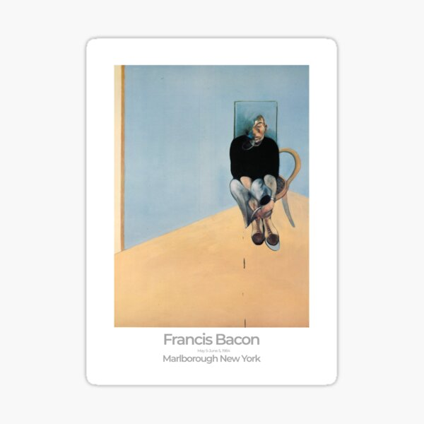 Francis Bacon Exhibition Art Poster 1984 - Study for Self-Portrait Sticker