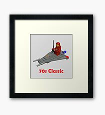 70s Classic Space Lego Framed Print