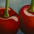 Red Cherries Print by cathy savels