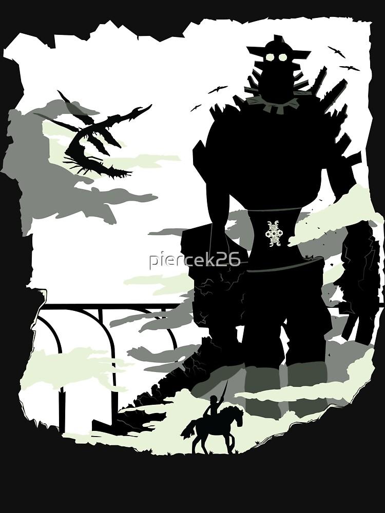 Silhouette of the Colossus white von piercek26
