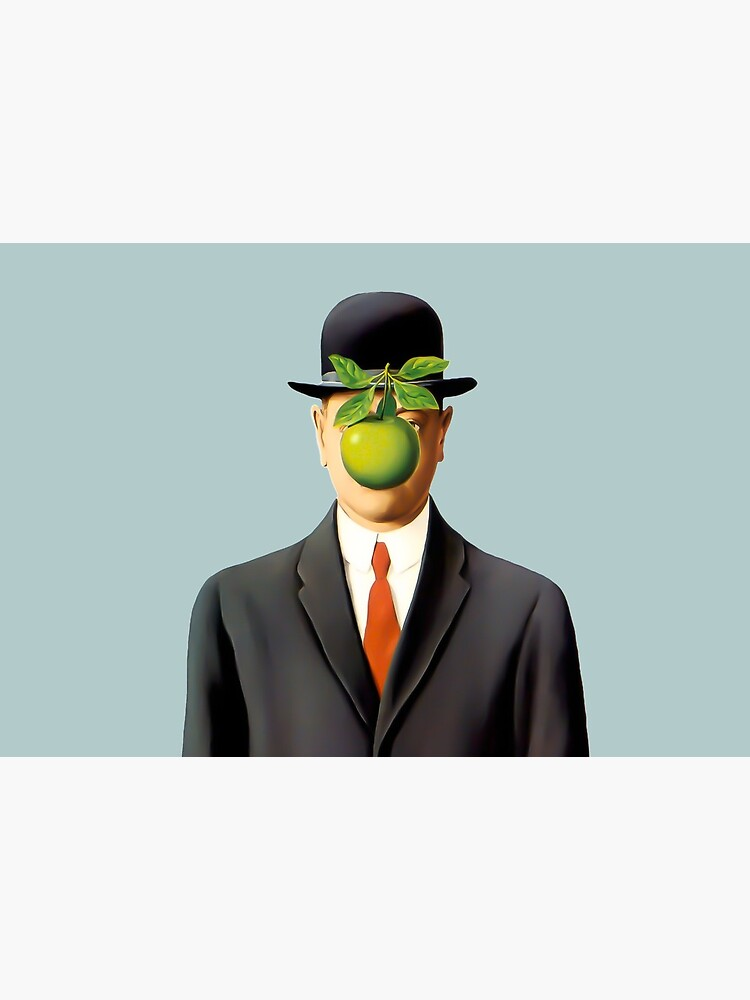Rene Magritte The Son of Man, 1964 Artwork, Tshirts, Posters, Prints, Bags, Men, Women, Youth by clothorama