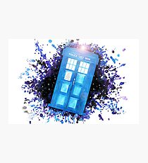 Wibbly-Wobbley Timey-Watercolor (White) Photographic Print