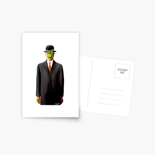 Rene Magritte The Son of Man, 1964 Artwork, Tshirts, Posters, Prints, Bags, Men, Women, Youth Postcard