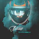 Iceman Helmet 2013 - Poster/cards - Kimi Raikkonen by evenstarsaima