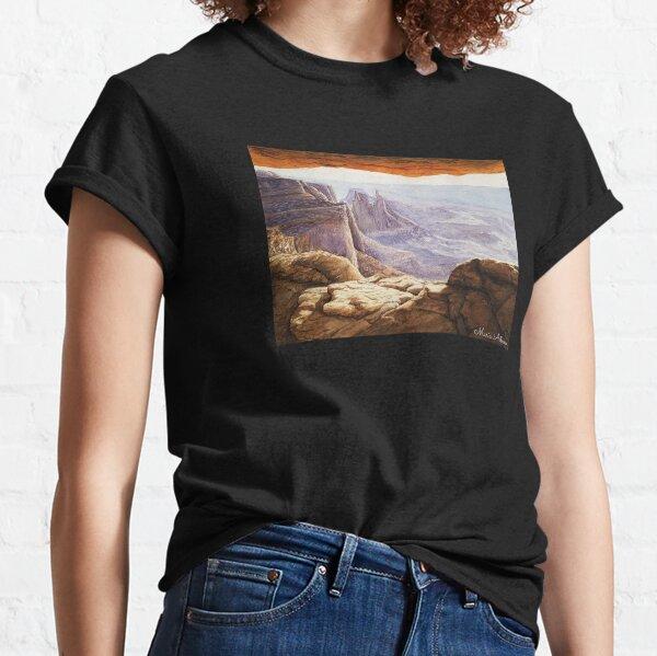 Landscape sunrise watercolor Utah USA  Classic T-Shirt