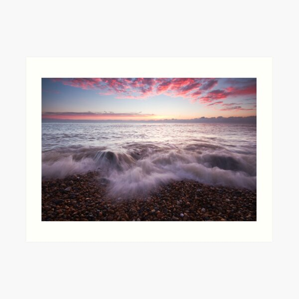 Just before sunrise on Eastbourne beach Art Print