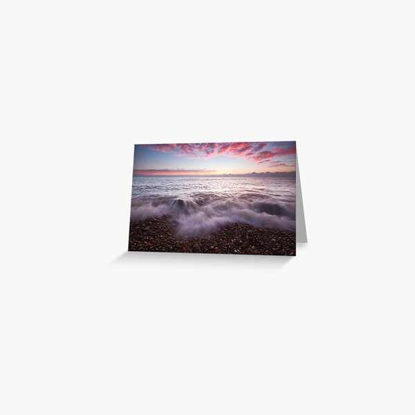 Just before sunrise on Eastbourne beach Greeting Card