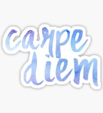 Carpe Diem (watercolor) Sticker