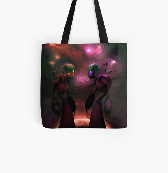 Invader Zim Fan Art - Almighty Tallest Red & Purple All Over Print Tote Bag