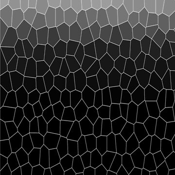 Black White Grey Bold Ombre Cells by ozcushions