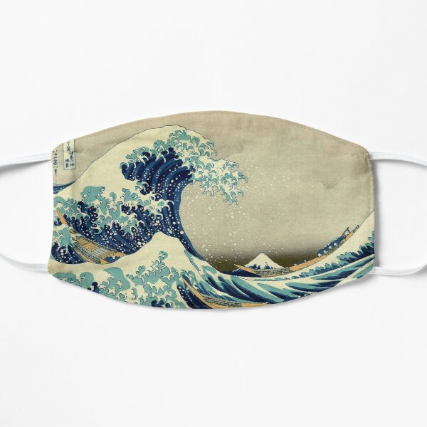 Hokusai, The Great Wave off Kanagawa, Japón, Japonés, Bloque de madera, grabado. Mascarilla plana