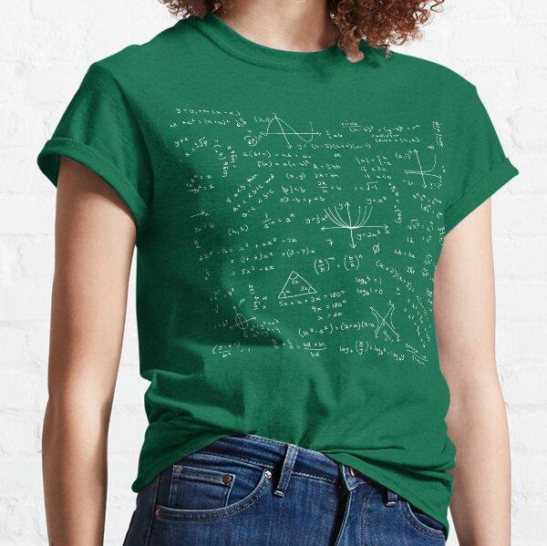 Algebra Math Sheet Classic T-Shirt