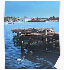 Southampton Northam River Itchen old jetty Poster