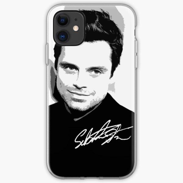 Sebastian Stan B&W Cutouts W/Signature iPhone Soft Case