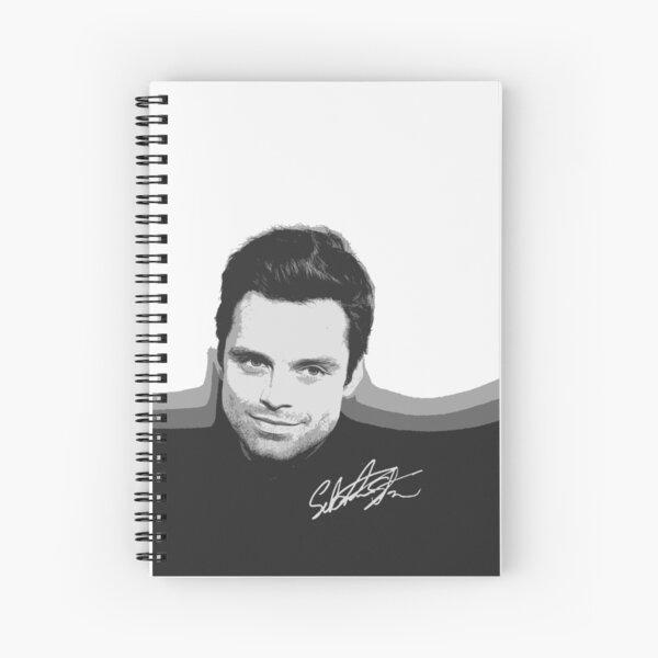 Sebastian Stan B&W Cutouts W/Signature Spiral Notebook