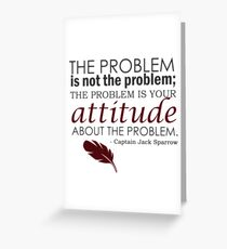 The Problem Greeting Card