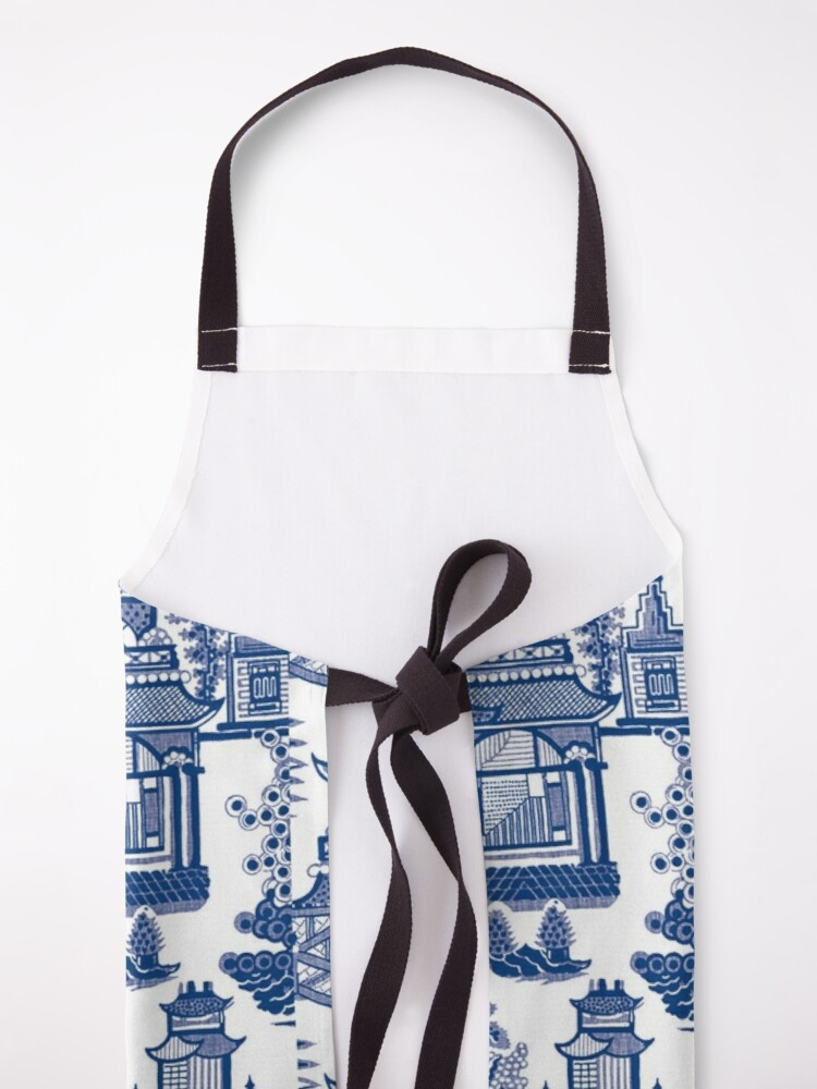 Alternate view of Blue Willow Ancient Ming China - Blue And White Chinoiserie  Apron