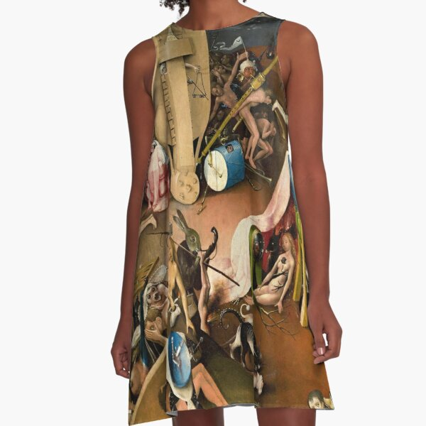 The Garden of Earthly Delights - Bird King in Hell Detail A-Line Dress