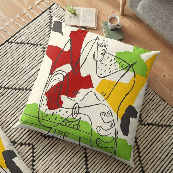 Le Corbusier Exhibition poster Floor Pillow