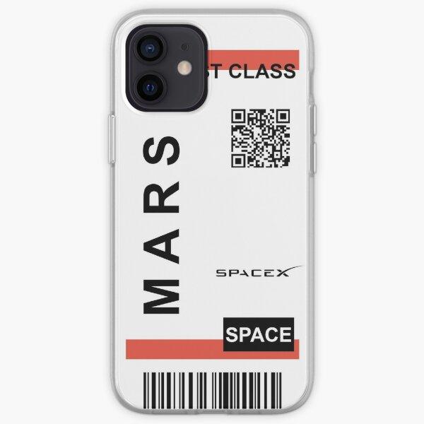 Billet d'avion Mars SpaceX Coque souple iPhone