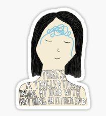 My Mirror Speaks Sticker