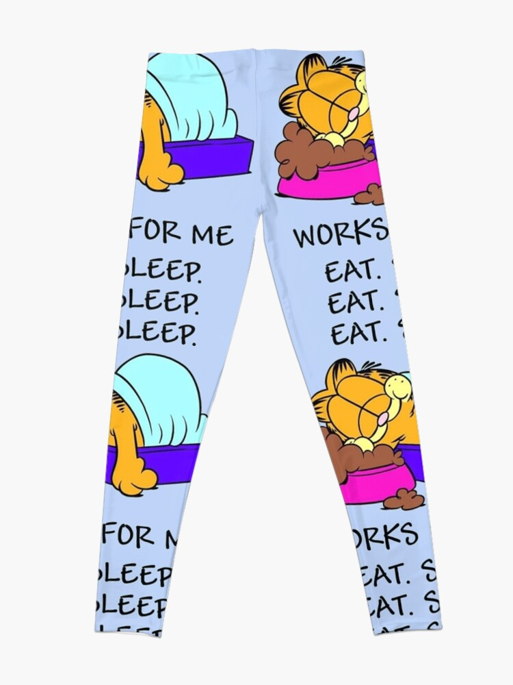 Alternate view of Garfield Eat Sleep Leggings