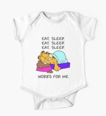 Garfield Eat Sleep One Piece - Short Sleeve