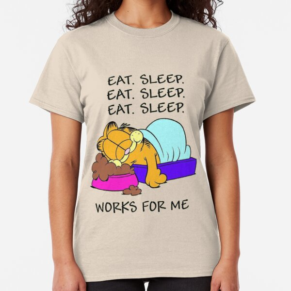 Garfield Eat Sleep Classic T-Shirt