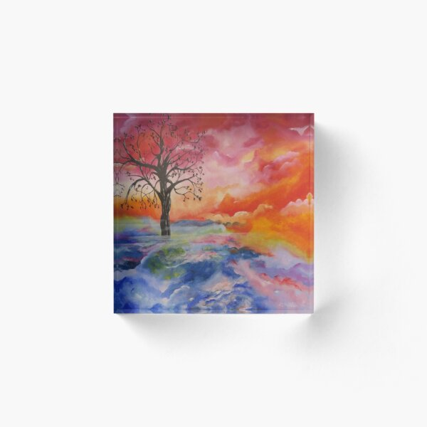 Rise Above the Clouds Acrylic Block