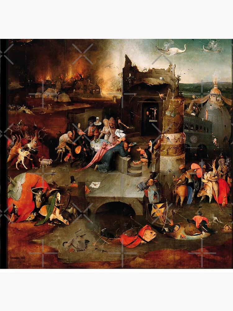 Triptych of the Temptation of St. Anthony by Hieronymus Bosch by BulganLumini