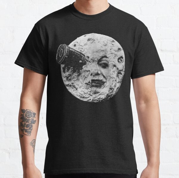 EARLY CINEMA, A Trip to the Moon. By Georges Melies. 1902. On Black. Classic T-Shirt