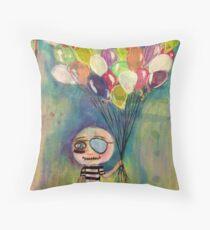 Balloon Pirate Throw Pillow