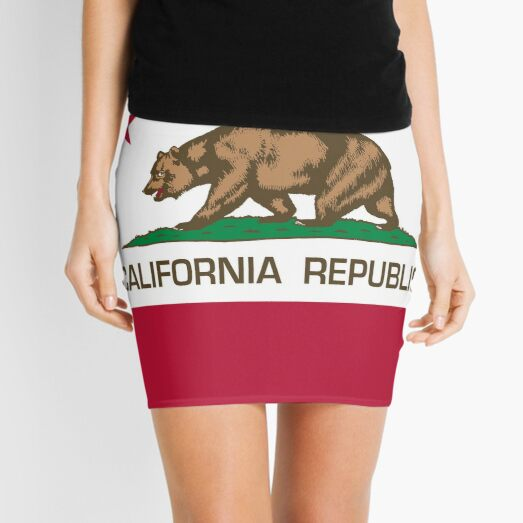 California Republic state flag of California Mini Skirt