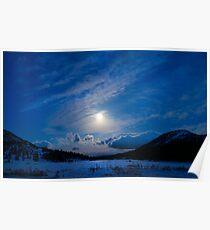 Moonlight Over Tahoe Meadows Poster