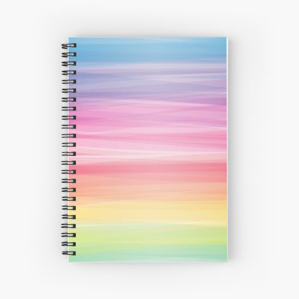 Multi color pattern fabric Spiral Notebook