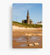 st Georges church Church overlooking Tynemouth Beach Canvas Print
