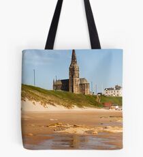 st Georges church Church overlooking Tynemouth Beach Tote Bag