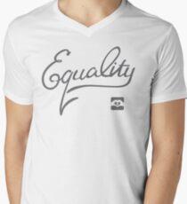 Equality - Grey Men's V-Neck T-Shirt