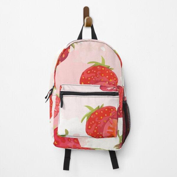 Seamless background strawberries Backpack
