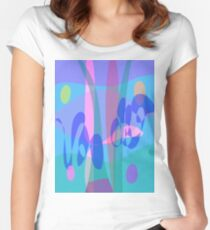 Swimming Women's Fitted Scoop T-Shirt
