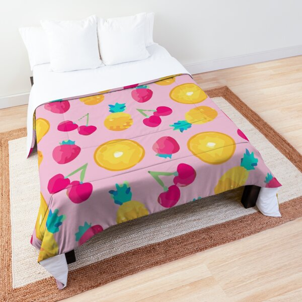 Seamless lime with leaf background Comforter