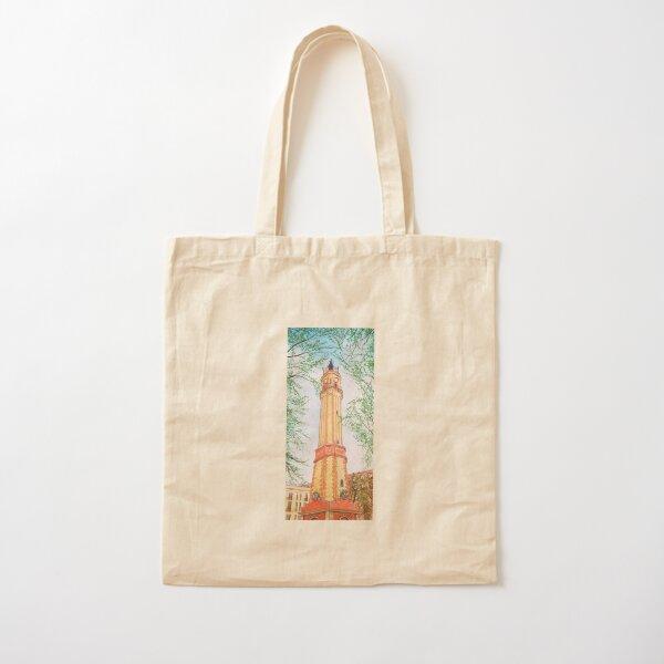 Landscape of Barcelona's Gracia neighborhood with watercolor. Cotton Tote Bag